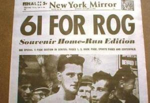 Roger Maris Home Run Bat