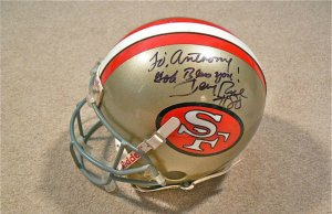 Jerry Rice Game Worn Helmet