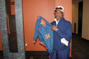 Eddie Payton Holding Up Walter's Favorite Sideline Jacket