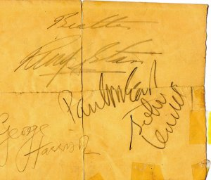 Rare 2/9/64 The Beatles Signed Dress Rehearsal Schedule from The Ed Sullivan Show - Autographed by All 4 - Paul McCartney, John Lennon, George Harrison & Ringo Starr